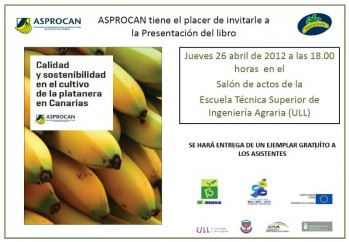 """Presentación del libro """"Calidad y sostenibilidad en el cultivo de la platanera en Canarias"""